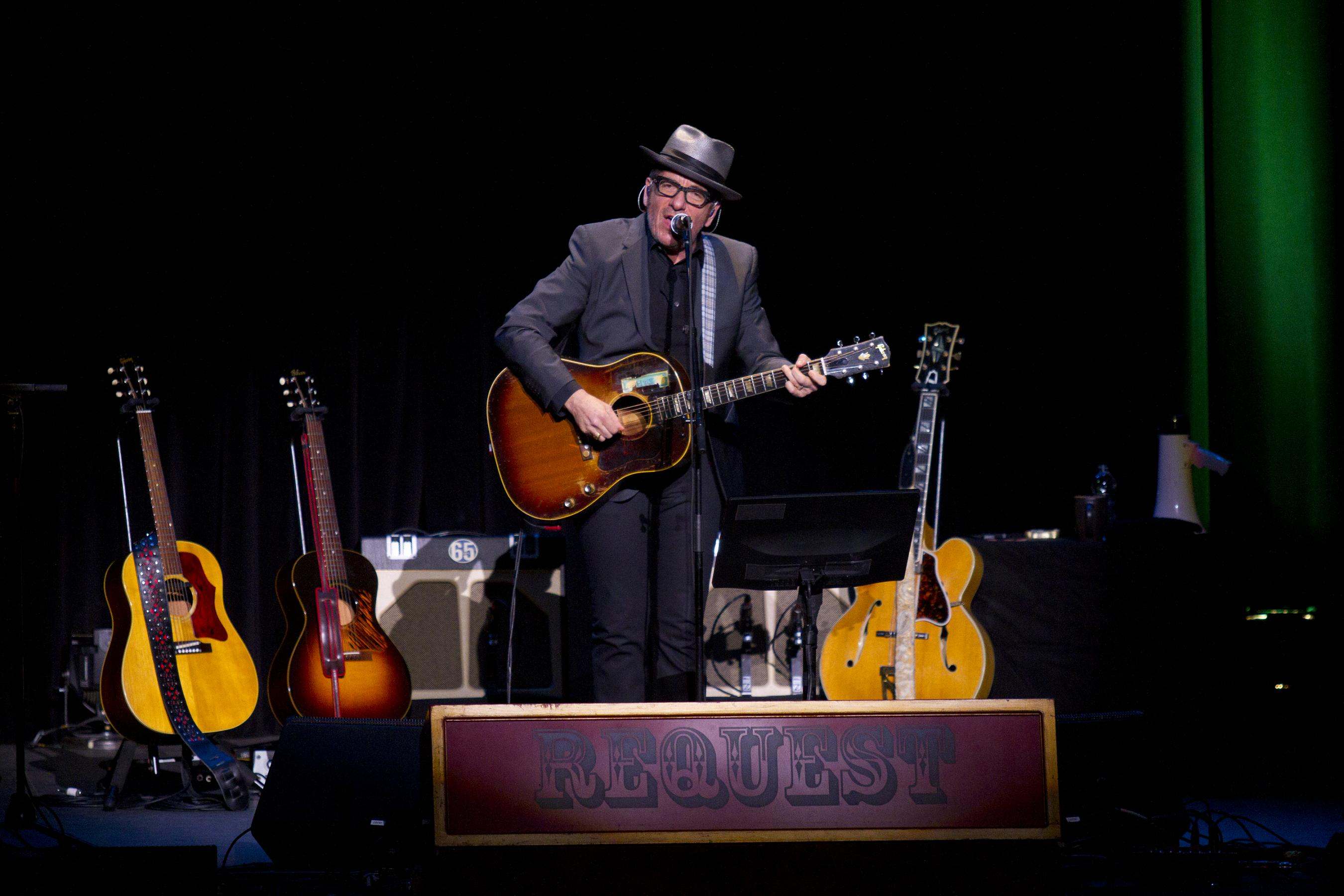 ELVIS COSTELLO'S AIM IS TRUE IN MARATHON KIRBY CONCERT