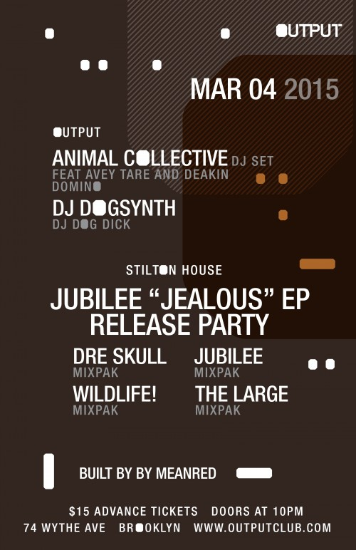 ANIMAL COLLECTIVE & HOLY GHOST! DJ SETS AT OUTPUT IN BROOKLYN: WIN TICKETS