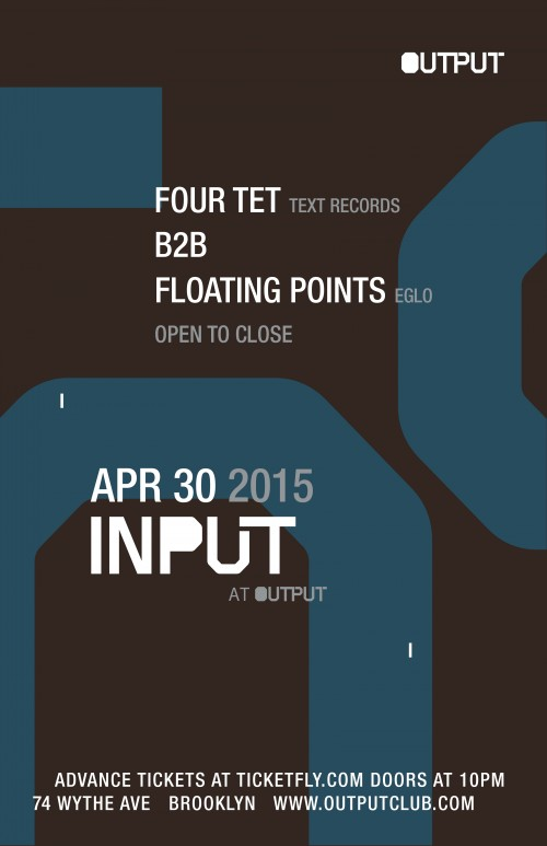 FOUR TET AT OUTPUT IN BROOKLYN: WIN TICKETS
