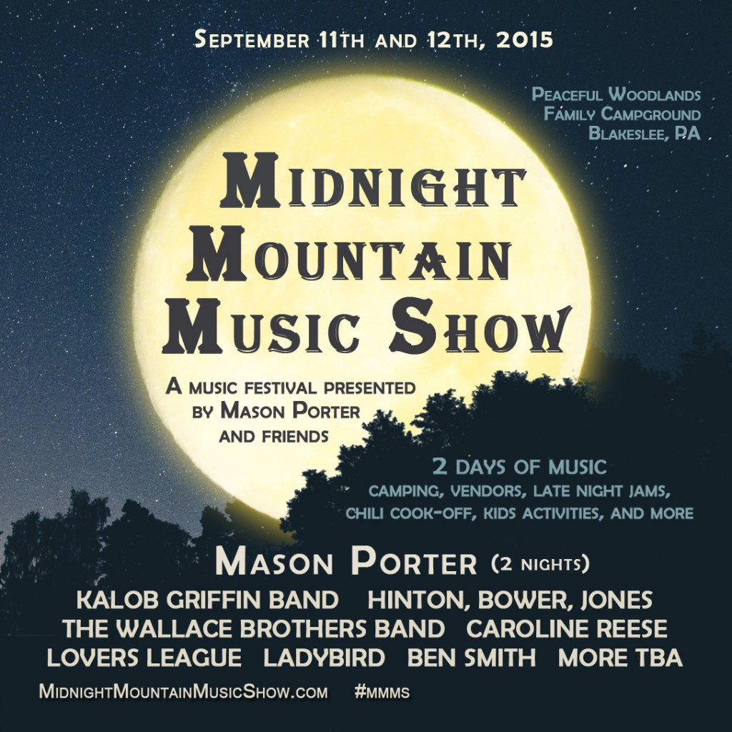 MASON PORTER TO HOST FESTIVAL IN THE POCONOS