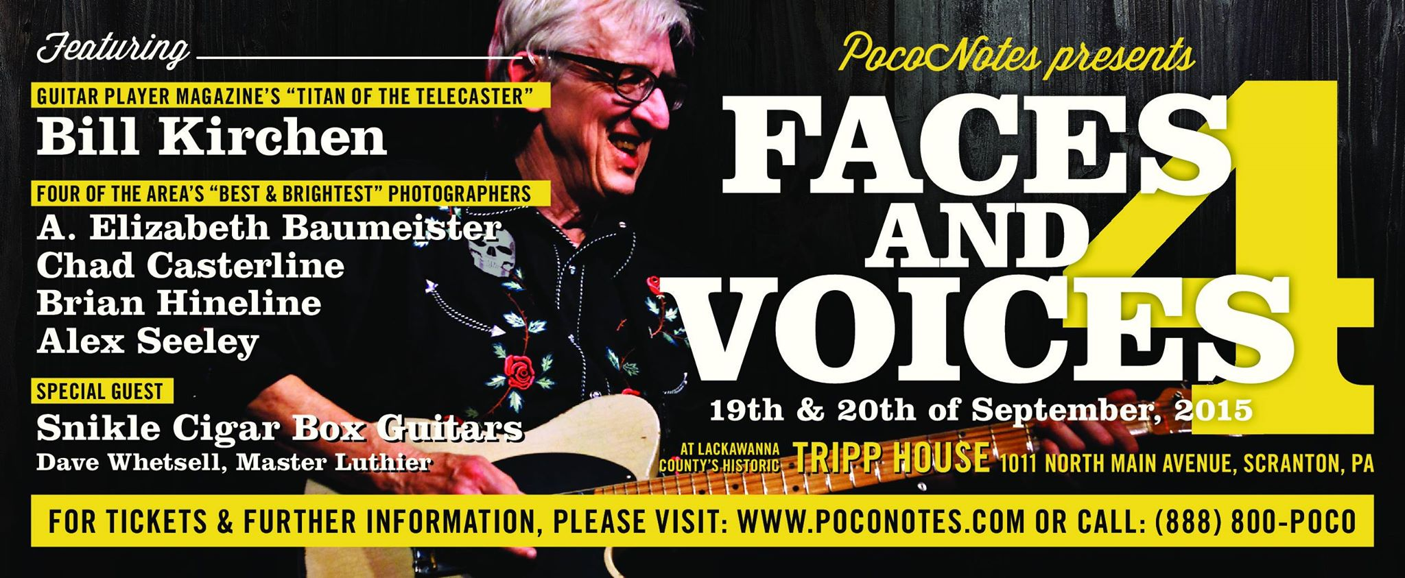 FACES & VOICES 4 FEATURES BILL KIRCHEN, FOUR PHOTOGRAPHERS