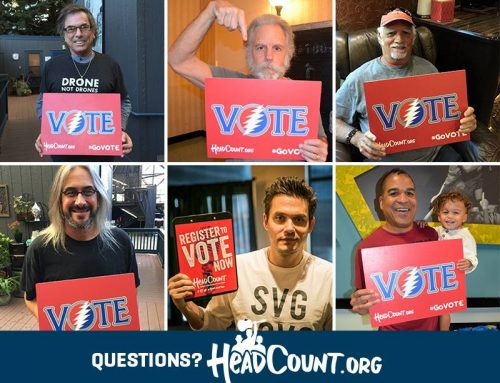 HEADCOUNT GETS OUT THE VOTE, ONE CONCERTGOER AT A TIME