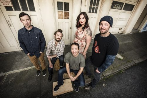 YONDER MOUNTAIN STRING BAND, BILLY STRINGS & JP BIONDO OF CABINET SET FOR ARDMORE MUSIC HALL