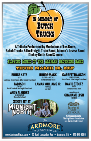 BUTCH TRUCKS TRIBUTE AT ARDMORE MUSIC HALL FEATURES EXTENDED ALLMANS FAMILY MEMBERS
