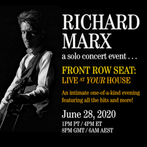 RICHARD MARX'S VIRTUAL CONCERT NEXT BEST THING TO BEING THERE